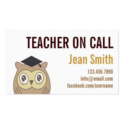 Create Your Own Mathematical Teacher Business Cards Page2