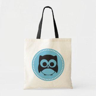 Cute Owl Tote Bag | Aqua Blue