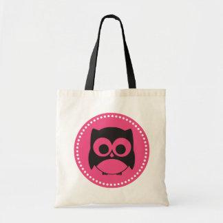 Cute Owl Tote Bag Hot Pink