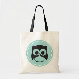Cute Owl Tote Bag Mint Green