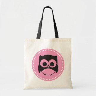 Cute Owl Tote Bag Pink