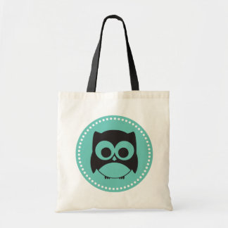 Cute Owl Tote Bag Teal