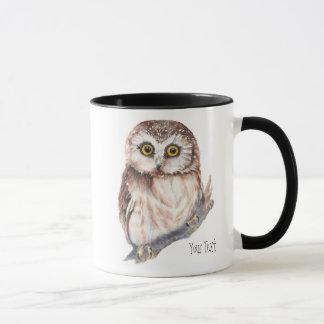 Cute Owl ,Watercolor Bird Nature, Mug