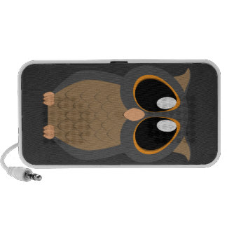 Cute Owl with Big Eyes PC Speakers