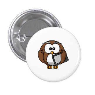 Cute Owl with Ereader Tablet Buttons