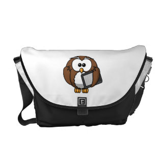Cute Owl with Ereader Tablet Messenger Bags