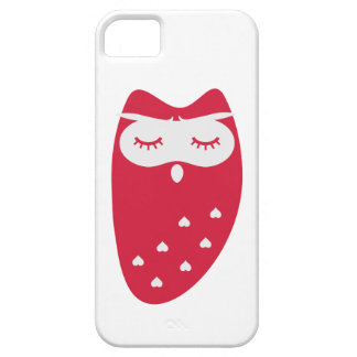 Cute owl with hearts iPhone 5 case