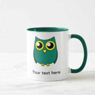 Cute Owl with Huge Yellow Eyes Mug