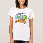 Cute Owl World's Best School Bus Driver T-Shirt