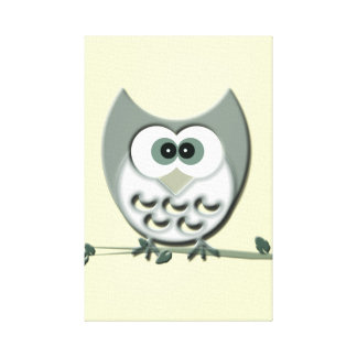 Cute Owl Wrapped Canvas