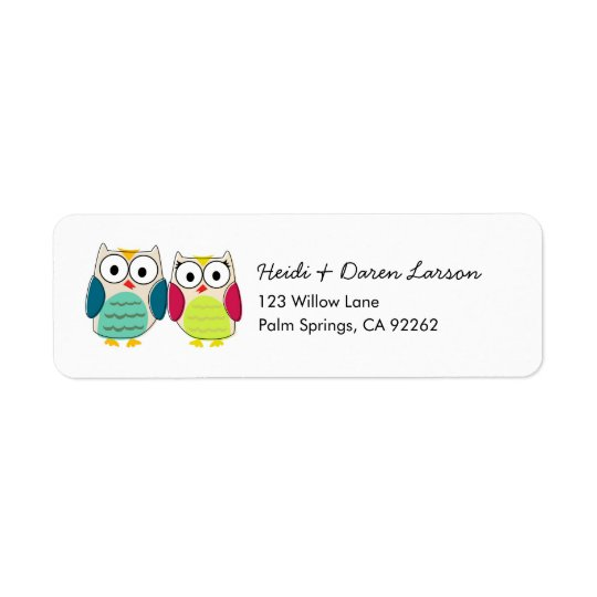 Cute Owls Address Labels