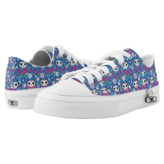 Cute Owls And Flowers Low Tops