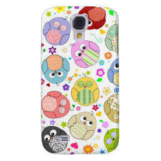 Cute Owls and Flowers pattern Galaxy S4 Case