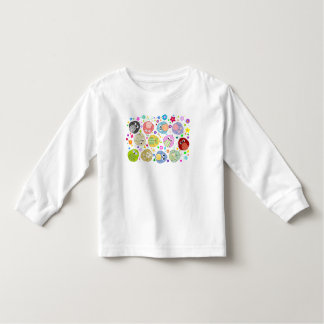 Cute Owls and Flowers pattern Toddler T-Shirt