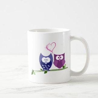 Cute Owls and Heart Coffee Mug