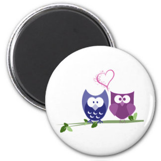 Cute Owls and swirly heart Valentine gifts Magnets