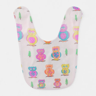 Cute Owls Baby Bib