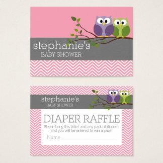 Cute Owls Baby Shower Games - Diaper Raffle
