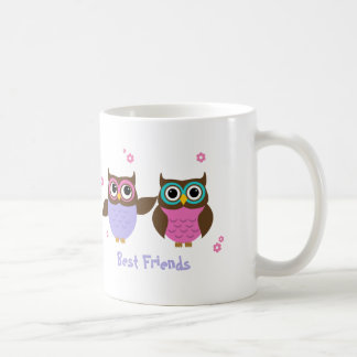 Cute Owls Best Friends Forever Mugs