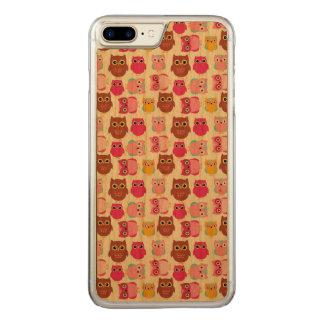 Cute Owls Carved iPhone 8 Plus/7 Plus Case