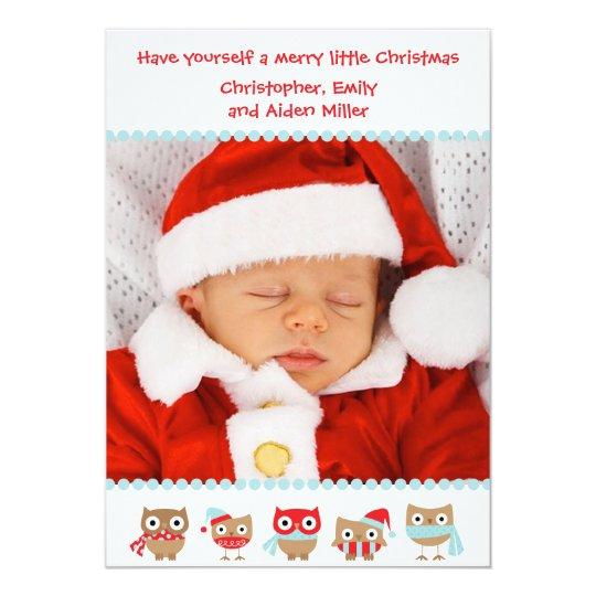 Cute Owls Christmas Card