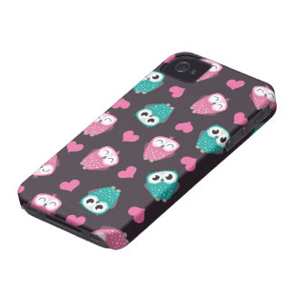 Cute Owls & Hearts Case-Mate iPhone 4 Cases