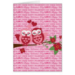 Cute Owls in Love Happy Valentine's Day Gifts Card