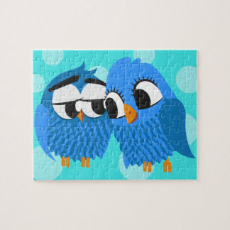 Cute Owls in Love Jigsaw Puzzle
