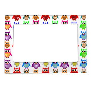 cute owls magnetic frame