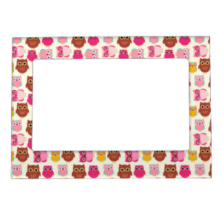 Cute Owls Magnetic Picture Frame