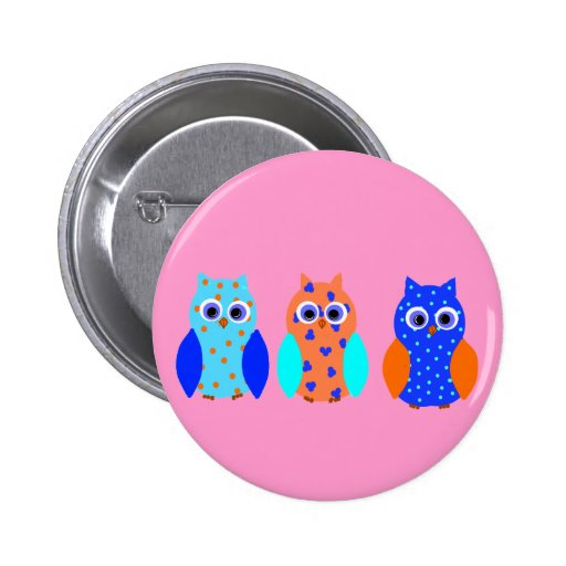 Cute Owls on Buttons and multiple products
