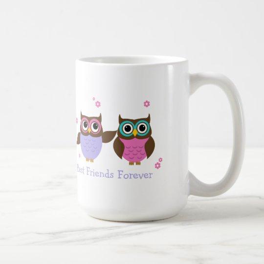 Cute Owls Personalised Best Friends Mug