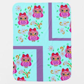 cute owls pramblanket