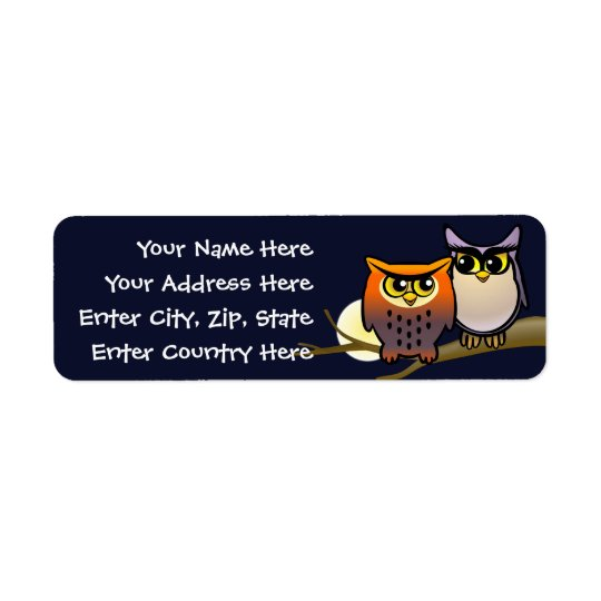 Cute Owls Return Address Label