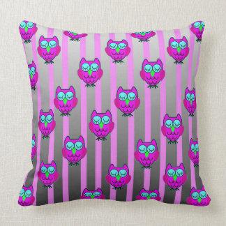Cute owls seamless  pattern cushion