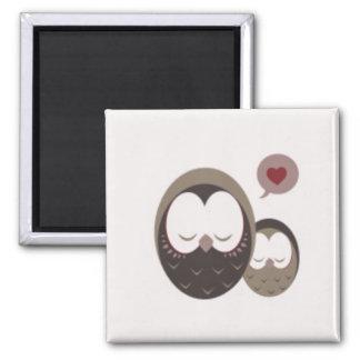 Cute Owls Square Magnet