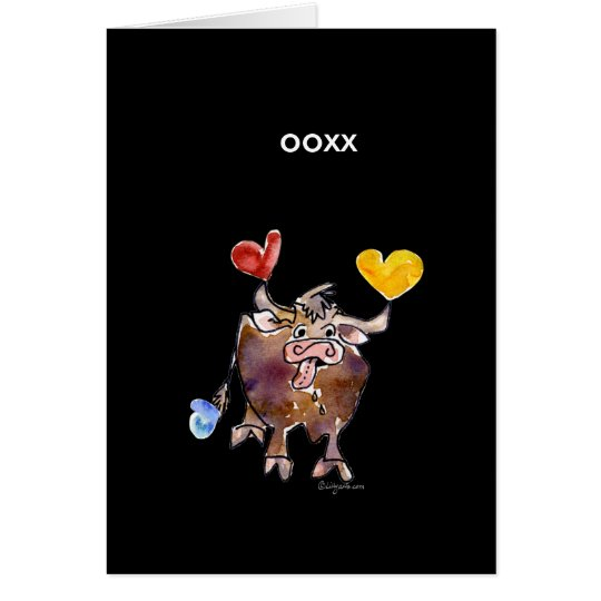 Cute OX Valentines Day Card