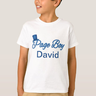 Cute Page Boy Tshirt to Customize