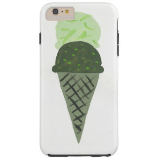 Cute Painted Green Ice Cream Cone Phone Case