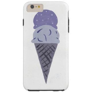 Cute Painted Purple Ice Cream Cone Phone Case