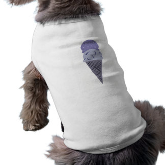 Cute Painted Purple Ice Cream Cone Puppy Shirt