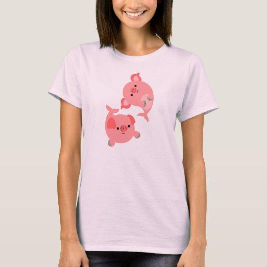 Cute Pair of Cartoon Merpigs Women T-Shirt