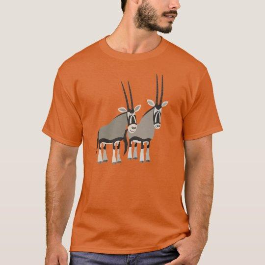 Cute Pair of Cartoon Oryxes T-Shirt