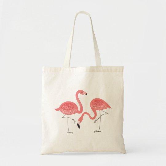 Cute Pair Of Pink Flamingo Illustration