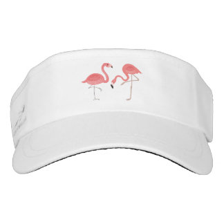 Cute pair Of Pink Flamingos Illustration Visor
