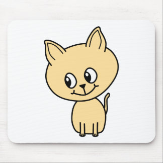 Cute Pale Amber Kitten Mouse Pads