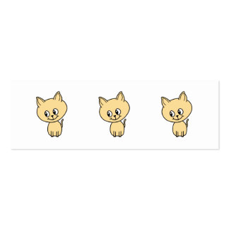 Cute Pale Amber Kitten. Pack Of Skinny Business Cards