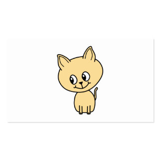 Cute Pale Amber Kitten. Pack Of Standard Business Cards
