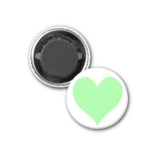 Cute Pale Green Heart Magnet