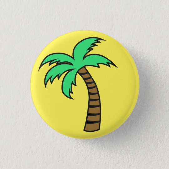 Cute Palm Tree Badge Pin Button